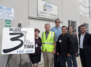 Blois Construction Celebrates 3 Years of Safety