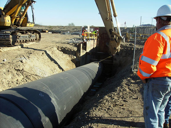 Blois Construction, Sewer Brine Line Phase 1-B